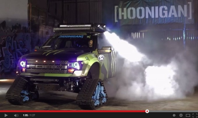 Ken Block's RaptorTRAX AWD Burnout