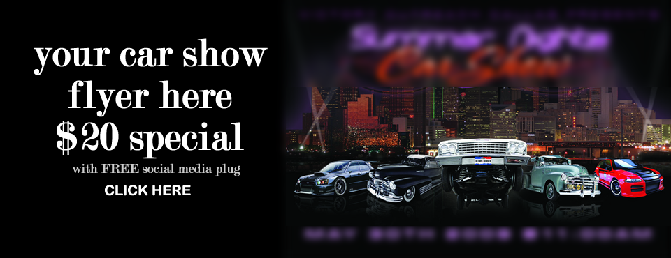 Car Show Flyer Advertising Special