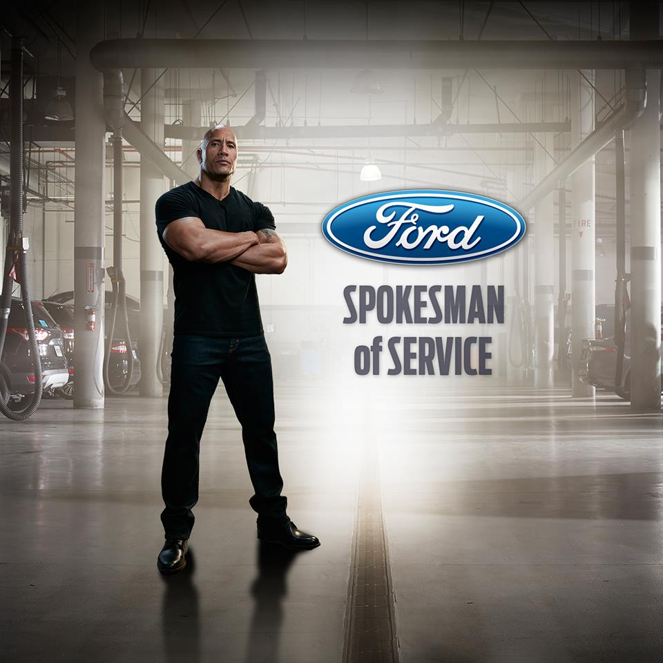 Dwayne Johnson and Ford Service